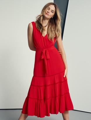 Forever New Georgia Tiered Midi Dress - Cherry Tomatoes - 6