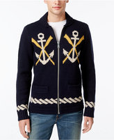 Tommy Hilfiger Men's Naval-Themed Zip-Front Cardigan