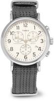 Timex Weekender Stainless Steel And Webbing Chronograph Watch - Dark gray