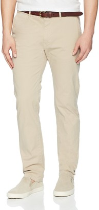 Scotch & Soda Men's Classic Garment Dyed Chino Pant in Stretch Cotton Quality