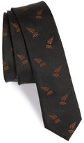 The Kooples Men's Leaf Jacquard Silk Skinny Tie