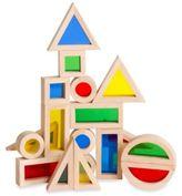 Guidecraft Jr. Rainbow Block 20-Piece Set