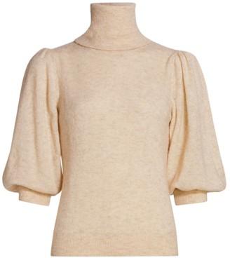 By Ti Mo Teddy Puff-Sleeve Sweater