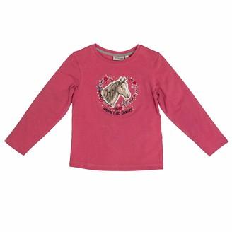 Salt&Pepper Salt and Pepper Girls' Horses Smart Pferdekopf mit Herz Pailletten Longsleeve T - Shirt