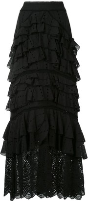 We Are Kindred Lola ruffle maxi skirt