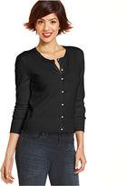 Monroe Marilyn Juniors Sweater, Long Sleeve Striped Polka-Dot