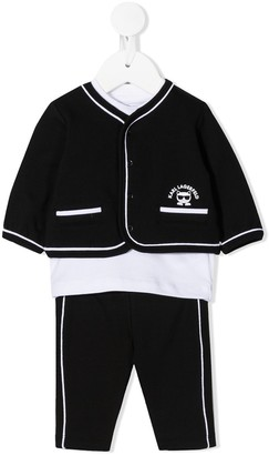 Karl Lagerfeld Paris Three-Piece Tracksuit Set