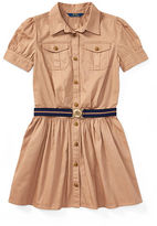 Ralph Lauren 7-16 Cotton Chino Belted Shirtdress