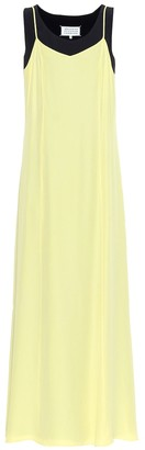 Maison Margiela Double-layered crApe dress