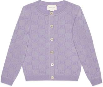 Gucci Children's GG sparkling wool cardigan