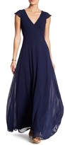 Minuet V-Neck Empire Long Dress