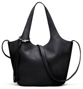 Elizabeth and James Small Finley Leather Shopper - Black