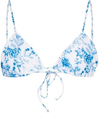 Juillet Elsa floral-print bikini top