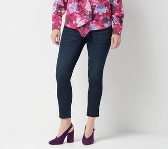 Fly London Laurie Felt Petite Silky Denim Ankle Skinny Zip Jeans