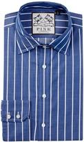 Thomas Pink Damien Slim Fit Stripe Dress Shirt