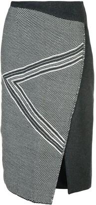 Voz Asymmetric Pattern Skirt
