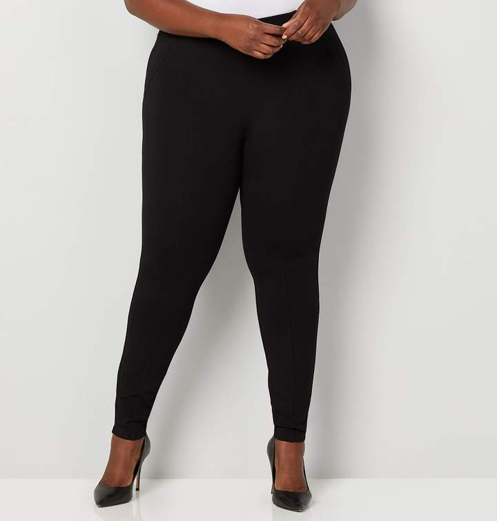 f5f039dcfd9 Plus Size Pull On Ponte Pants - ShopStyle