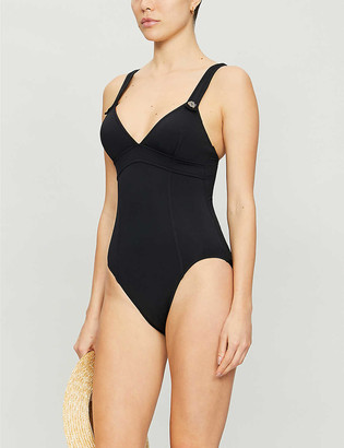 Seafolly Active button-embellished swimsuit