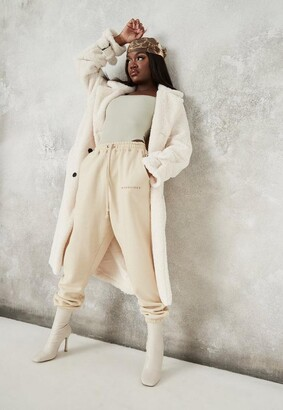 Missguided Faux Fur Double Breasted Collar Coat