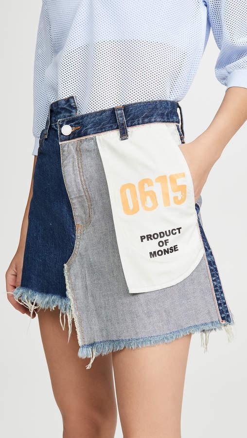 Monse Inside Out Denim Skirt