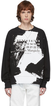 Maison Margiela Black Numbers Sweatshirt