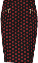MICHAEL Michael Kors Polka-dot crepe mini skirt