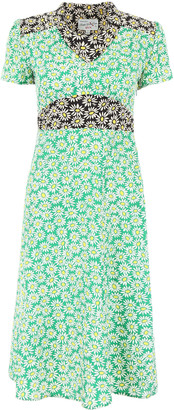 HVN Daisy Print Morgan Dress
