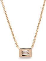 Rachael Ryen - Gold Baguette Necklace with White Topaz