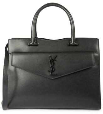 Saint Laurent Medium Uptown Leather Satchel