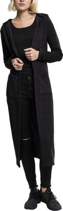 Urban Classics Women's Ladies Space Dye Hooded Cardigan Sweater