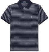 Polo Ralph Lauren Striped Stretch-cotton Polo Shirt - Blue