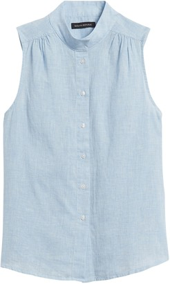 Banana Republic Cotton-Linen Sleeveless Shirt