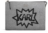 Karl Lagerfeld Women's K/Pop Pouch Black