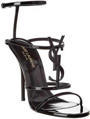 Saint Laurent Cassandra 110 Leather Sandal