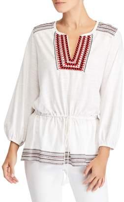 Ralph Lauren Ralph Nasahwna Bohemian Embroidered Top, Soft White