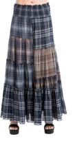 Max Studio Plaid Patchwork Maxi Skirt