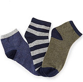 Class Club 3-Pack Heathered Quarter Socks