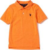 U.S. Polo Assn. Orange Heather Horse Emblem Polo - Toddler & Boys