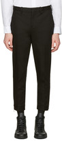 Neil Barrett Black Cropped Zip Trousers