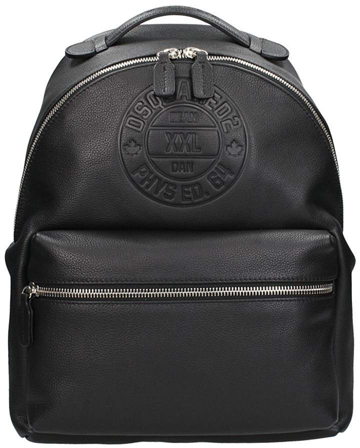 DSQUARED2 Black Leather Backpack