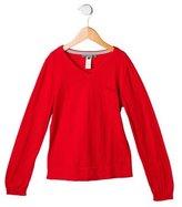 Bonpoint Girls' V-Neck Rib Knit Sweater