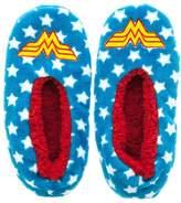 Bioworld DC Comics Wonder Woman Plush Fuzzy Slippers Womens Socks Footies SM-XL