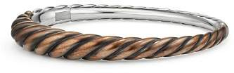 David Yurman Pure Form Mixed Metal Cable Bracelet with Bronze & Sterling Silver