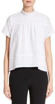 Proenza Schouler Women's Cotton & Silk Fil Coupe Top