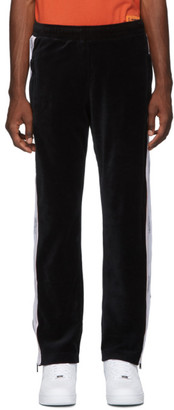 Heron Preston Black Velour Tape Lounge Pants