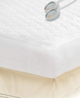 Simmons Microfiber King Heated Mattress Pad with 3M Scotchgard