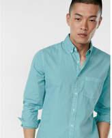 Express garment dyed long sleeve cotton shirt