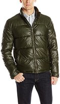 Kenneth Cole New York Men's Quilted Faux Leather Bomber