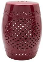 Surya 18.1 Modern Cylindrical Burgundy Stool