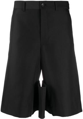 Comme des Garcons Knee-Length Multi-Pocket Tailored Shorts